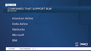 Companies that support BLM