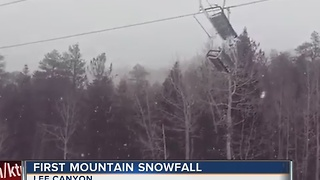 Lee Canyon gets first snow of the season - Video