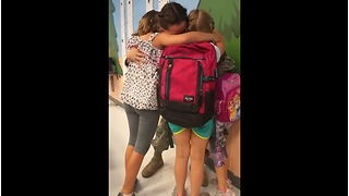 Mom Surprises Her Girls At School After 6 Month Deployment!  - Video