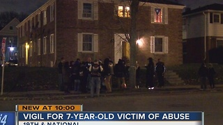Neighbors gather to remember 7-year-old boy beaten, starved to death - Video