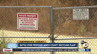 Residents voice concern over North San Diego County recycling center project