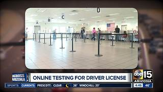 Arizona to allow online written testing for driver's license - Video