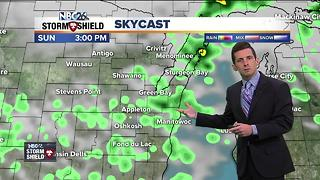 Spotty Sunday showers and thunderstorms