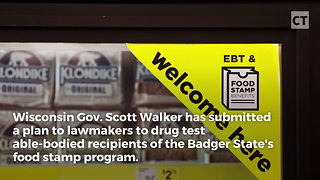 Scott Walker Pushes Drug Testing for Food Stamps - Video