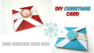 DIY Christmas greeting card card ideas - Video