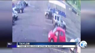 Purse snatcher runs over metro Detroit woman in Kroger parking lot - Video