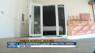 San Diego company creates napping pods for tired workers