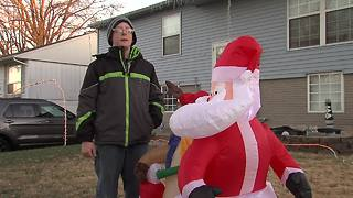 Christmas Grinches deflate holiday for 2 families - Video