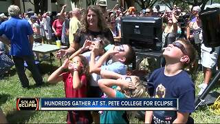Hundreds gather at St. Pete College for eclipse - Video