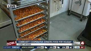 Community Cooperative Soup Kitchen donates food for Thanksgiving - Video