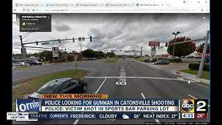 Man shot outside Loafer's Sports Bar and Grille in Catonsville - Video