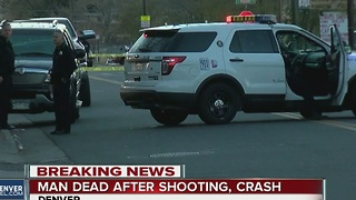 car crash victim suffered gun shot wound - Video