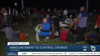 Enforcement plan expected to control crowds in Ocean Beach