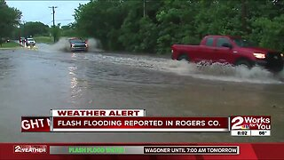 Flash flooding reported in Rogers County