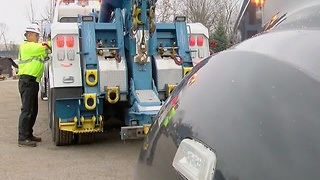 Tow Truck Drivers working overtime, but there's little oversight on the amount of sleep they get - Video