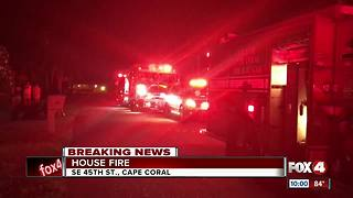 Cape Coral House Fire - Video