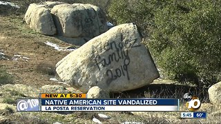 Native American site vandalized in East San Diego County