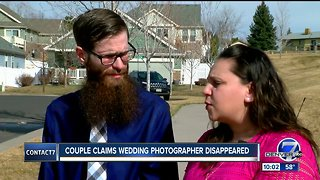 Colorado couple says photographer vanished after wedding, taking their photos with him