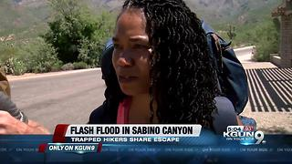 Hikers share how they escaped a flash flood in Sabino Canyon - Video