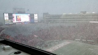 Snowstorm Hits Football Game at University of Wisconsin-Madison