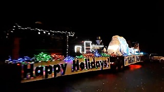 Incredibly Beautiful Christmas Lighted Truck Parade  - Video