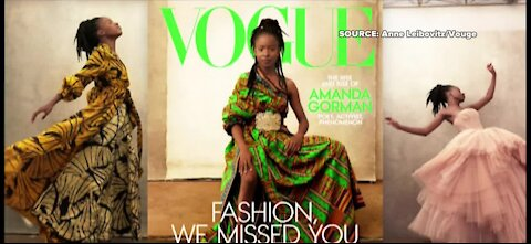 Amanda Gorman featured on cover of Vogue