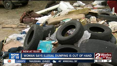 Residents outraged by piles of dumped trash