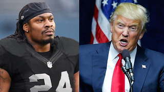 Donald Trump DEMANDS for Marshawn Lynch to Be SUSPENDED for Sitting During Anthem - Video