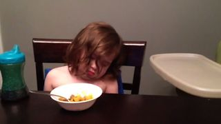 Cute Baby Loses Battle To Sleep - Video