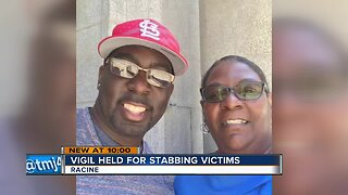 Community holds vigil for Racine man stabbed to death