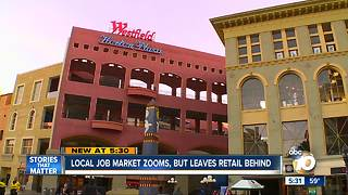 Retail left behind as local job market zooms