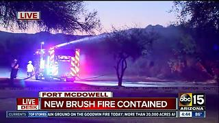 Crews work fast to stop brush fire near homes on Fort McDowell reservation - Video