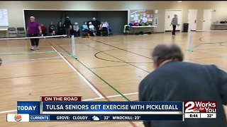 Tulsa seniors get exercise with pickleball