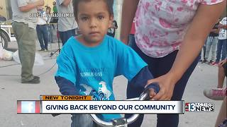 Local couple hand delivers backpacks to kids in Mexico - Video