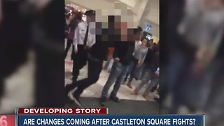 Castleton Square Mall officials and Indianapolis police meeting Tuesday to discuss mall safety after fights - Video