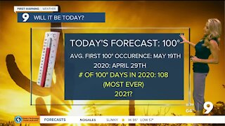 Highs soar to 100° for the first time