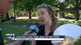 Staying cool for Jazz in the Park in Milwaukee