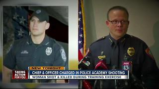 Chief of police,officer charged in death of grandmother killed during citizen academy training - Video