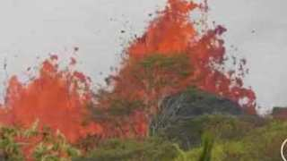 Livestream Captures Kilauea Lava Flow In Lower Puna, Hawaii - Video