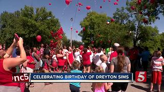 Balloons Released In Memory Of Dreyton Sims - Video