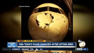 Oklahoma City Thunder's team plane damaged after hitting bird - Video