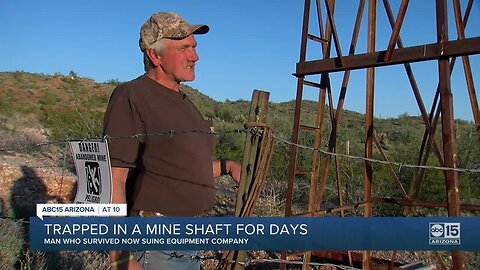 Man trapped in a mine shaft for days speaks out over a year later