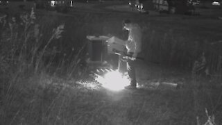 Man captured on video lighting beehive on fire at apiary in Hartville