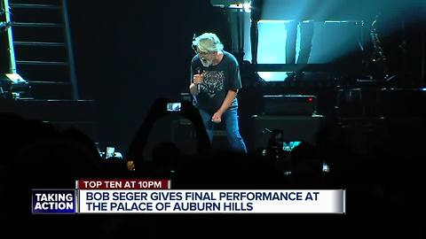Bob Seger concert to be final show at Palace of Auburn Hills