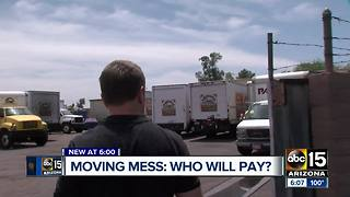 Who pays for issues with movers?