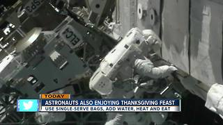 Happy Thanksgiving to the astronauts celebrating in space - Video
