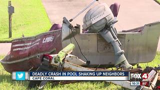 Car crashes into pool leaves one man dead