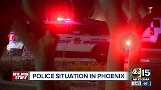 Police situation in west Phoenix - Video
