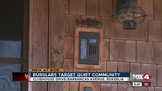 Thieves target quiet neighborhoods