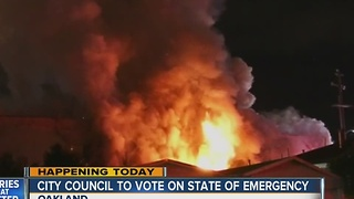 Deadly warehouse fire in Oakland: City Council to vote on State of Emergency - Video